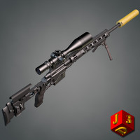 xm2010 remington 3d model