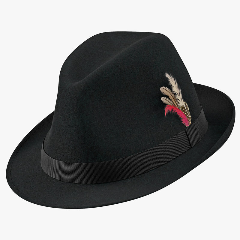 3d model of Fedora Hat 01.jpg