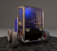 commuter tyres interior 3d model