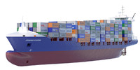 140 m. Container Ship