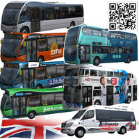 3d model england bus pack