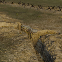 3d model trenches scene