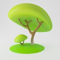 3d toon tree model
