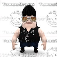 3d cartoon fat elvis model