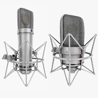 3d model of neumann rigged