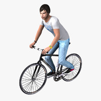 3d model bicyclist realtime rigged