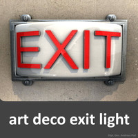 art deco exit light