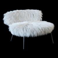 3d fur armchair mama nepal