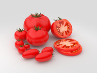 3d max tomatoes realistic