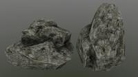 3d model rock 4