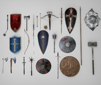 3d medieval weapons mega pack model