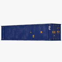 3ds max 45 ft cube container