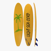 3d surfboard longboard 3 model