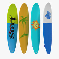 surfboard longboard set 3d 3ds