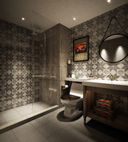 3d british style bathroom