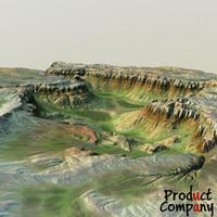 3d obj hills cliffs terrain
