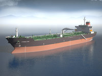 3d model ship tanker evergreen