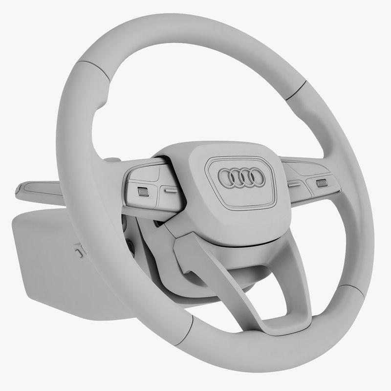 Audi Q7 2016 Steering Wheel_01.jpg