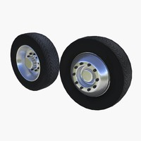 3d lorry wheels