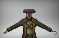 3ds max pirate captains rigged biped