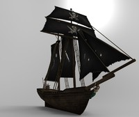 3d pirate schooner