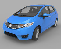 3ds max honda fit hatchback
