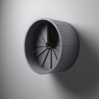 obj wall concrete clock