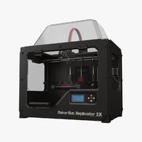 3d makerbot replicator 2x