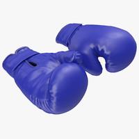 3dsmax boxing gloves blue