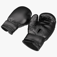 3d boxing gloves black