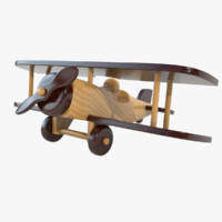 3d model wooden airplane toy