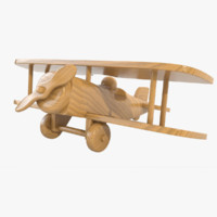 max varnished wooden airplane toy