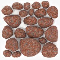3ds max stones