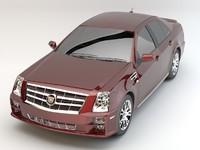 cadillac sts sedan 3d model