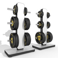 barbell storage station 3d model