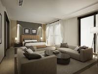 modern bedroom bed max