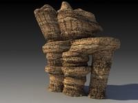 3d desert rock landscape model