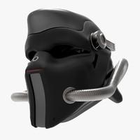 helmet sci fi 3d 3ds