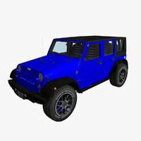 3d jeep wrangler unlimited model
