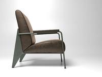 3d fauteuil salon haut