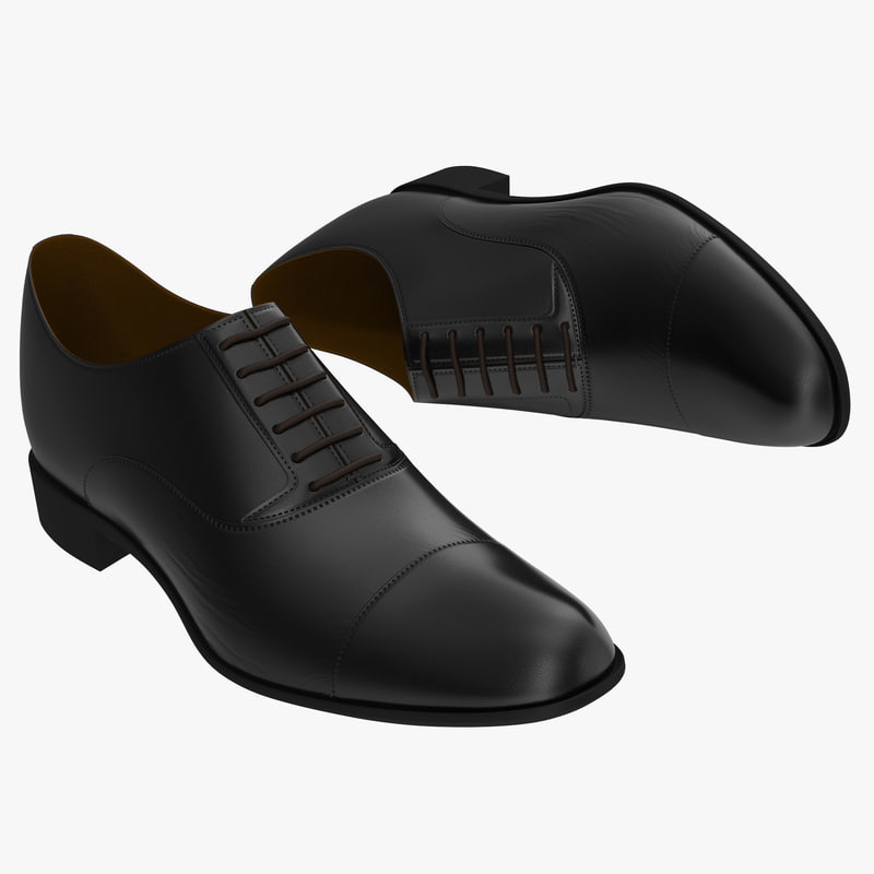 Man Shoes black 3d model 01.jpg
