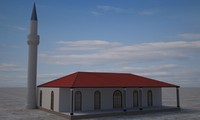 3d model mosque islam
