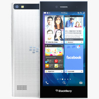 blackberry leap white 3d model