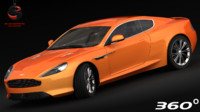 aston martin virage 2012 3d model