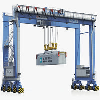 lightwave rubber-tyred gantry crane terex
