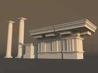 doric architectural 3d model