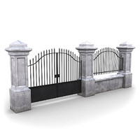 3ds max fencing pack wall
