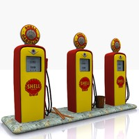 3ds max gas pump shell