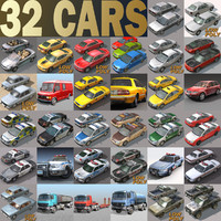 3ds max urban 32 cars