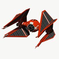 tie interceptor royal guard 3d model